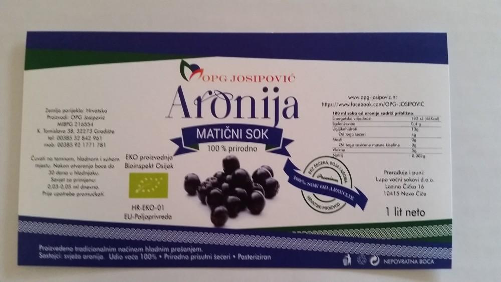 Matični sok od aronije