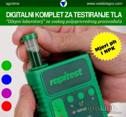 NPK i pH metar - uređaj za digitalno mjerenje kakvoće tla