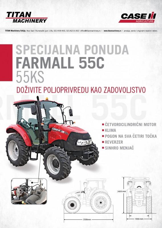 SPECIJALNA PONUDA! TRAKTOR CASE IH FARMALL 55C - 55KS