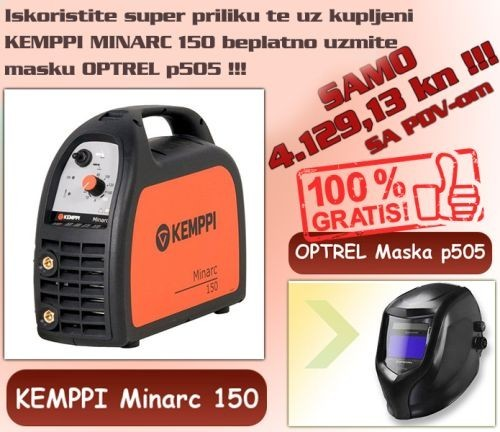 Kemppi Minarc 150 + Optrel maska p505 (Promo cijena!!!)