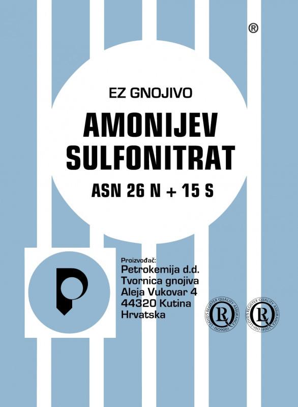 ASN amonijum sulfonitrat (26 N+15 S)