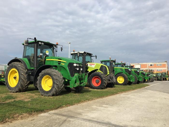 Provjerite aktualnu ponudu rabljenih JD, Claas i Fendt traktora