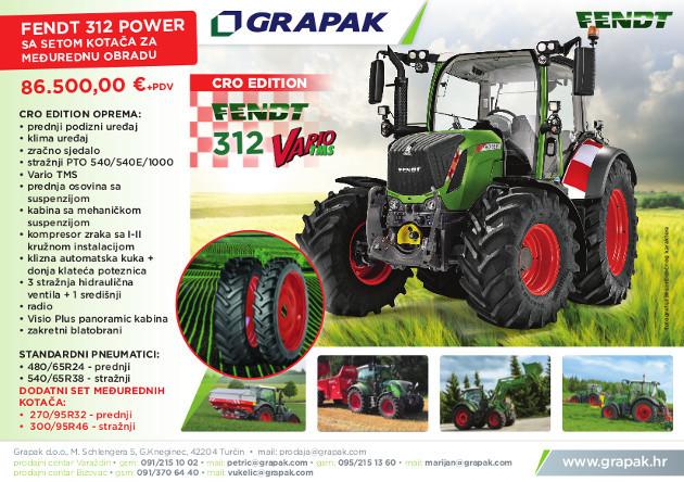 Odlična cijena! Traktor Fendt 312 Vario Cro Edition
