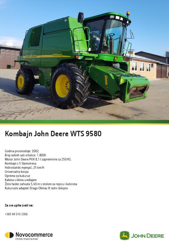 Kombajn John Deere WTS 9580