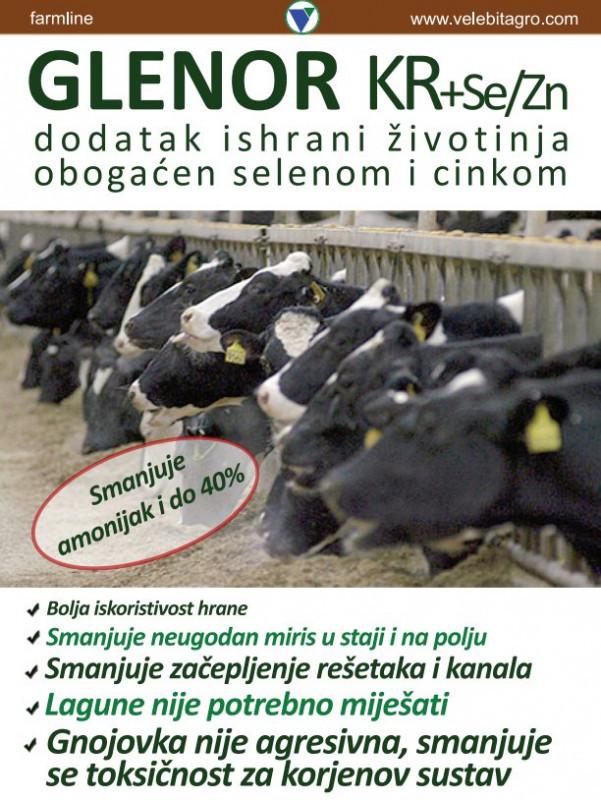 GLENOR KR+Se/Zn - dodatak stočnoj hrani za fermentaciju stajskog gnoja