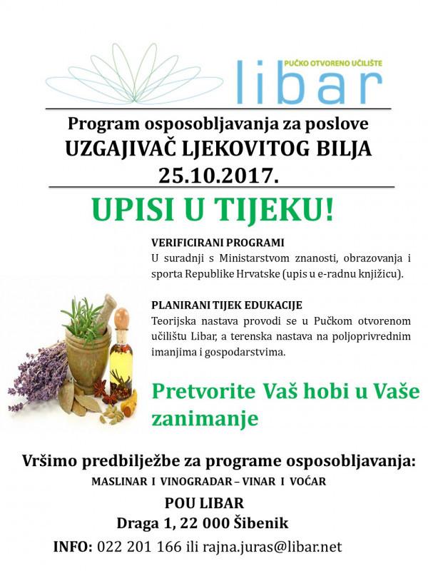 Program osposobljavanja za uzgajivača/icu ljekovitog bilja