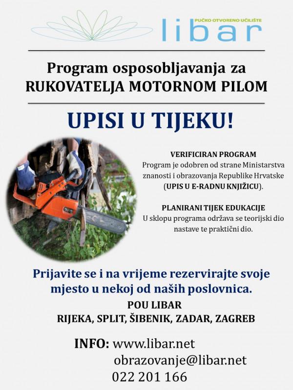Program osposobljavanja za rukovatelja motornom pilom