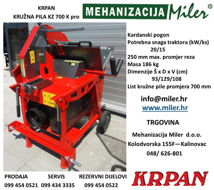 Kružna pila KRPAN KZ 700 K pro