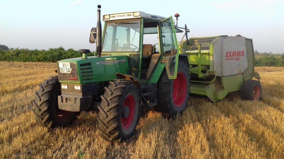 Fendt Farmer 308 lsa sa plugom i sjetvospremačem