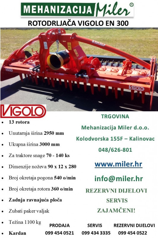 Rotodrljača Vigolo EN 300