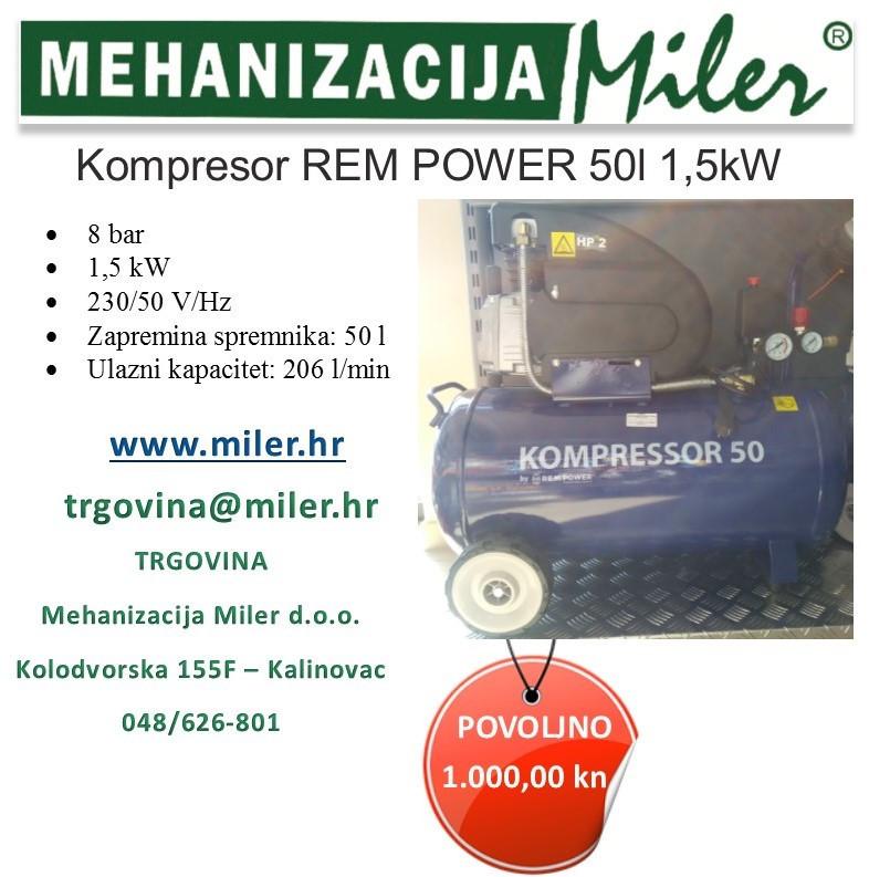 Kompresor Rem Power 50 l - 1,5 kW