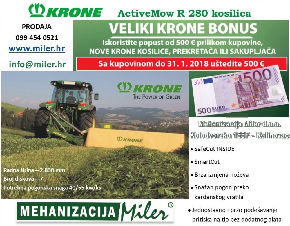KRONE ActiveMow R280 kosilica+KRONE BONUS