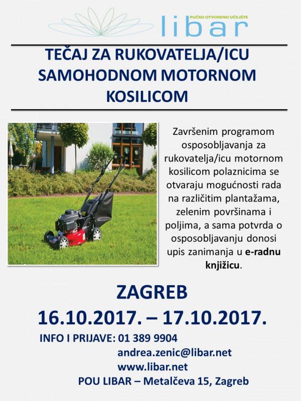 Program osposobljavanja za   RUKOVATELJA/ICU SAMOHODNOM MOTORNOM KOSILICOM