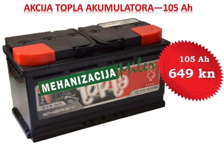 AKCIJA na Topla akumulatore 105 Ah