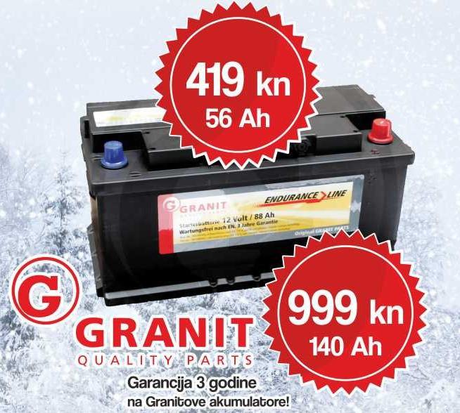 AKCIJA na Granit akumulatore 140 Ah