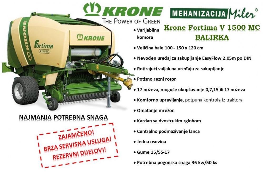 Krone Fortima V 1500 MC balirka