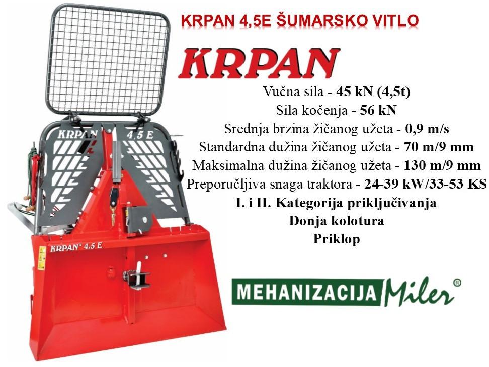 KRPAN 4,5 E Šumarsko vitlo