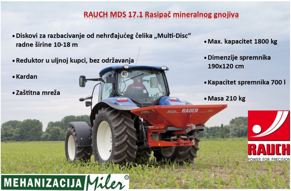 RAUCH MDS 17.1 Rasipač mineralnog gnojiva