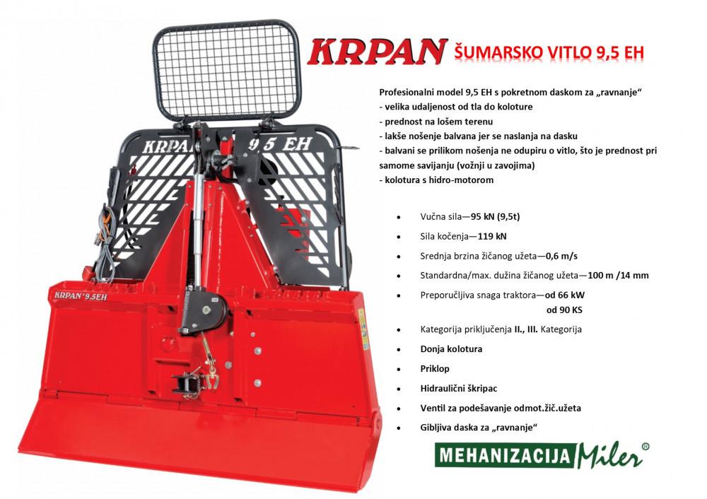 KRPAN 9,5 EH šumarsko vitlo