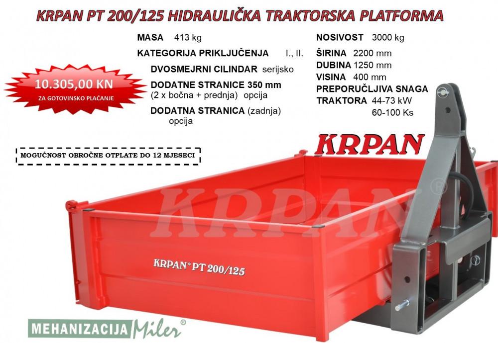 KRPAN PT 200/125 HIDRAULIČKA TRAKTORSKA PLATFORMA