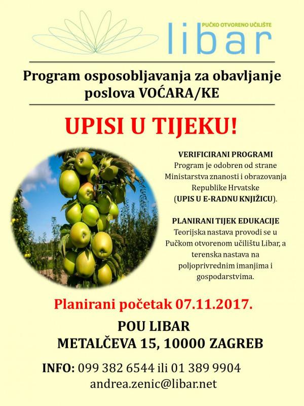 Program osposobljavanja za poslove voćara/ice