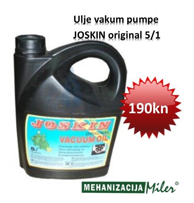 Ulje vakum pumpe  JOSKIN original 5/1