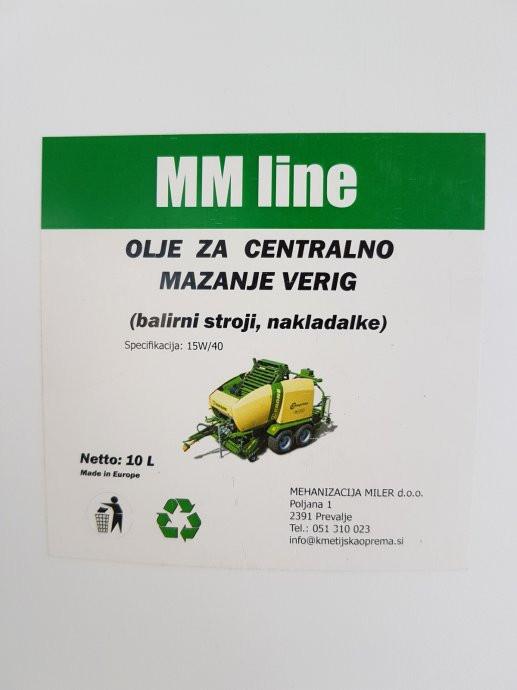 Ulje za balirke sa centralnim podmazivanjem, MM line