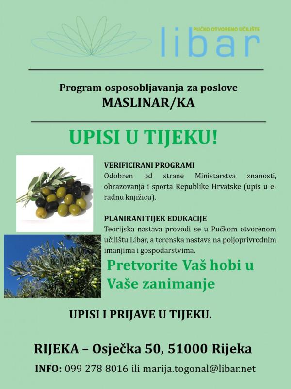 Program osposobljavanja za poslove maslinara/ke