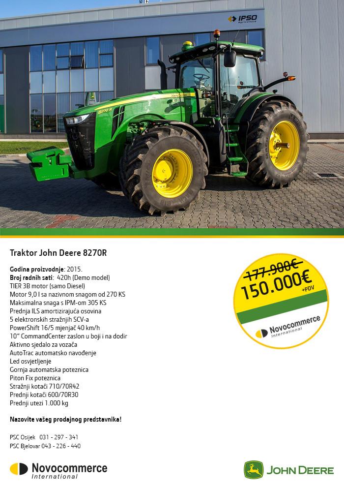 Traktor John Deere 8270R