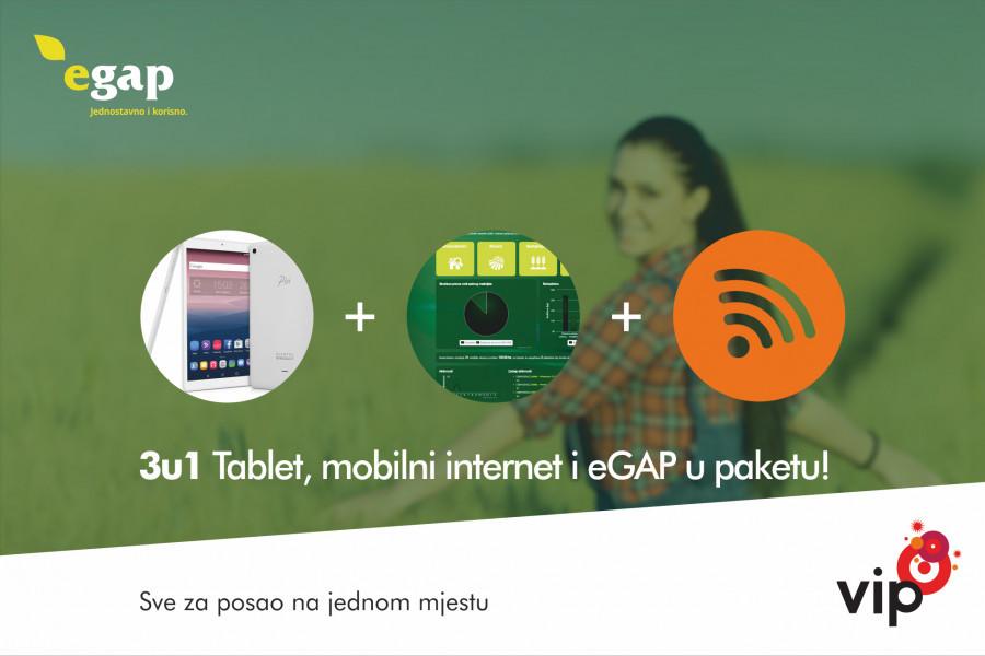 Tablet + eGAP PRO + Mobilni internet!