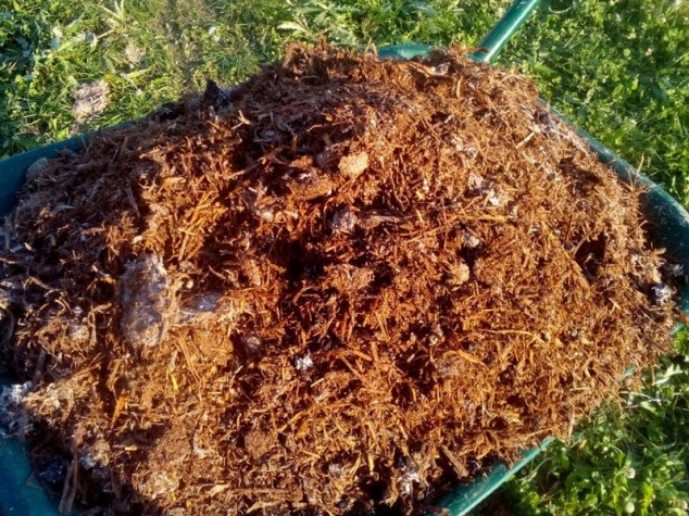 Kompost od gljiva za đubrenje zemlje