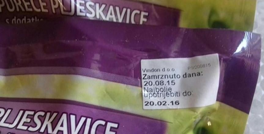 Prodali im pljeskavice s rokom trajanja 20. veljače 2016.!