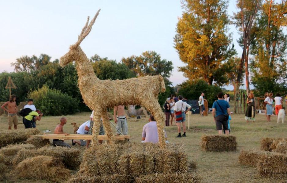 12. Festival Slama - land art