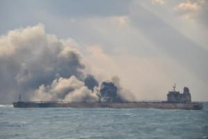 Ekološka katastrofa u kineskom moru - eksplodirao tanker pun kondenzata!