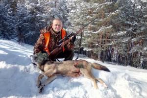 Miodrag Radivojević na Zlatiboru ulovio vuka