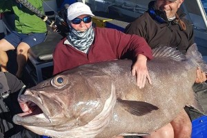 Došla u posjet sinu, otišli ribariti pa ulovila ribu tešku 62 kilograma!